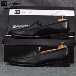Giày lười nam công sở màu đen 689d