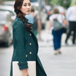 Áo khoác măngto kaki thu đông cách điệu giá sỉ