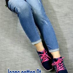 Quần jeans 9 tấc cottong giãn