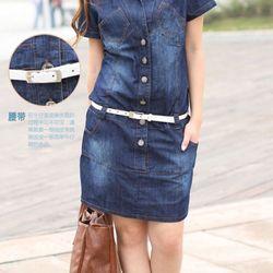 Đầm jean suông 6 túi hn1156