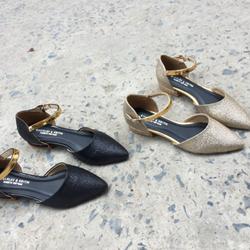 Li647- bn giày búp bê dây cổ chân đồng