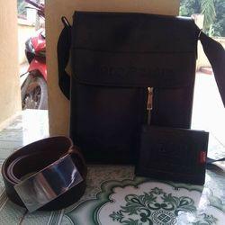 Túi ipad tặng kèm ví da và thắt lưng da giá sỉ