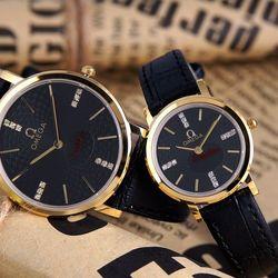 Đồng hồ da cặp inox kính sapphire