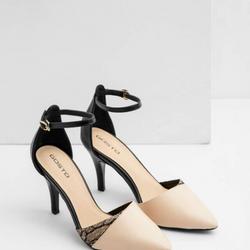 Giày cao gót phối si trăn giá sỉ