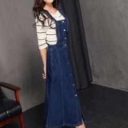 Đầm jean yếm dáng dài tmf3 870 s275