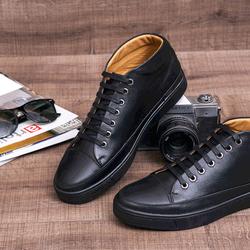 Giày cao cổ bomi da bò màu đen bm-008 giá sỉ