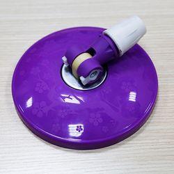 Cây lau nhà 360 độ, inox f22, mâm nhựa hoa mai (kèm 01 bông trắng) ( màu tím, xanh lá, xanh biển)