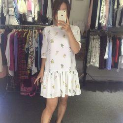 Váy lụa đuôi cá hoa nhí