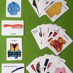 Bộ thẻ học song ngữ cho bé bao gồm 16 chủ đề đa dạng (416 thẻ)