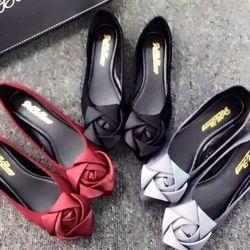 Giày búp bê kết nơ hoa hồng giá sỉ