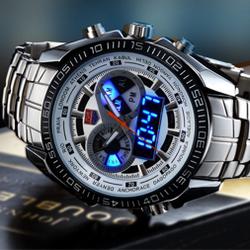 Đồng hồ kết hợp bảng hiển thị đèn led nam tính al02 giá sỉ
