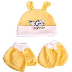 Set nón bao tay va bao chân cho bé sơ sinh giá sỉ