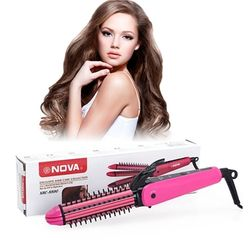 Máy làm tóc duỗi uốn bấm 3 trong 1 nova