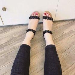 Giày sandal hoa cúc 2 quai