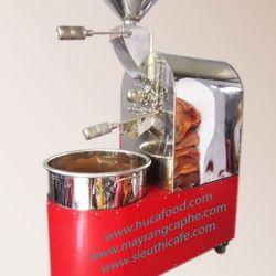 Máy rang cà phê công nghệ đức 5kg/mẻ không hút bụi giá sỉ