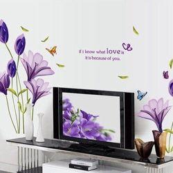 Decal dán tường trang trí hình hoa