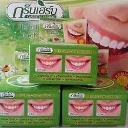 bột trắng răng green herb thái lan
