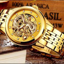 Đồng hồ cơ rồng vàng tevise giá sỉ
