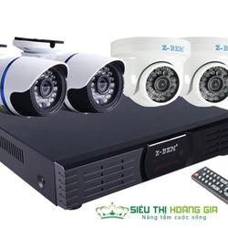 Trọn bộ 4 camera hd đầu ghi 4 kênh full hd hdd 500gb - giám sát từ bất cứ đâu giá sỉ