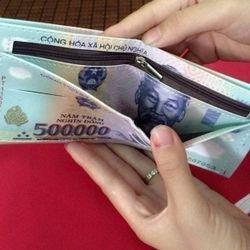 Bóp da 500k, 100$ xịn