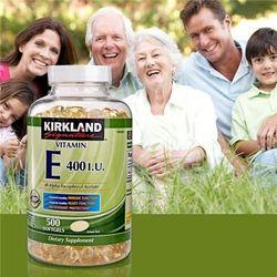 Viên uống đẹp da kirkland signature vitamin e 400iu 500 viên 500 viên nang mềm giá sỉ