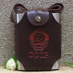 Bình tông đựng rượu inox cổ điển hip flask cccp 2l (64oz)