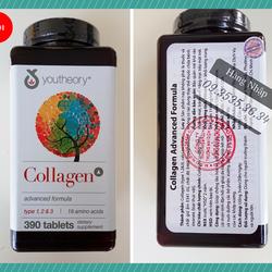 viên uống collagen youtheory type 1 2 và 3 390 viên giá sỉ