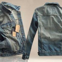 Áo khoác jean nam hàn quốc thời trang ms: 14952