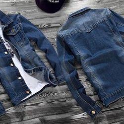 Áo khoác jean nam 2 túi kiểu mới ms: 15359