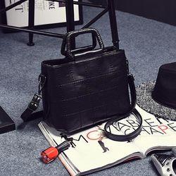 Túi đeo chéo nữ viền chỉ kẻ ô ms15621