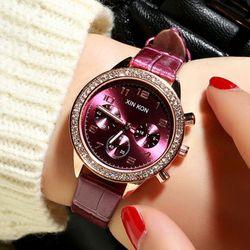 Đồng hồ da nữ mặt 2viền đá sang chảnh cho nàng-314 giá sỉ