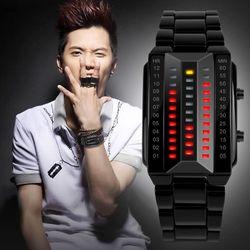 Đồng hồ điện tử nam đèn led mặt chữ nhật-103 giá sỉ