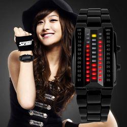 Đồng hồ điện tử nữ đèn led mặt chữ nhật-103 giá sỉ