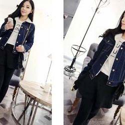 Áo khoác jean nữ 2 lớp lót lông siêu xinh ms15245