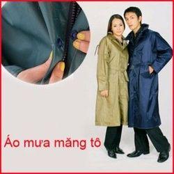 Áo mưa mangto vải dù dây kéo giá sỉ, giá bán buôn