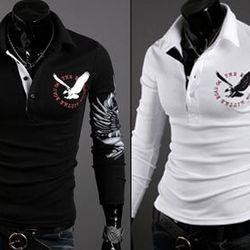 áo thun nam dài tay logo đại bàng ms15617