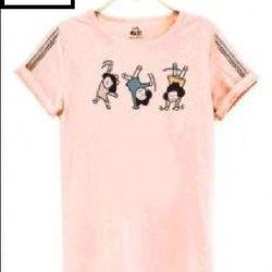 Msat43: áo thun nữ 3 cô gái m, l
