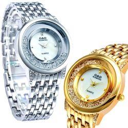 Đồng hồ nữ có đá trong mặt lắt lư theo tay siêu cute-198 giá sỉ