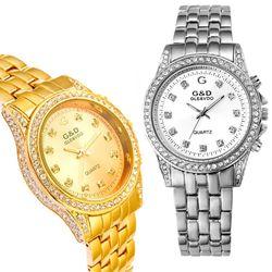 Đồng hồ nữ có 3 hàng đá bên hông sáng rực đồng hồ-201 giá sỉ