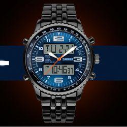 Đồng hồ nam tính mắt lớn kim loại phong cách châu âu -190