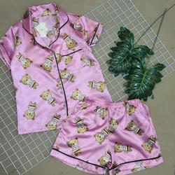 Đồ bộ pijama phi quần đùi giá sỉ