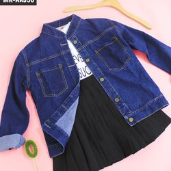 Áo khoác jean nữ xanh