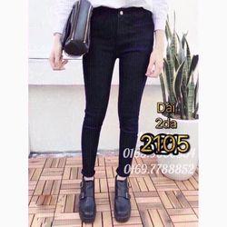 Quần jean dài nữ 2 da giá sỉ