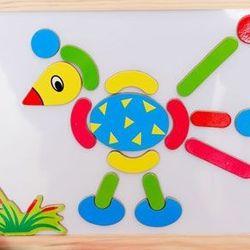 Bộ đồ chơi ghép hình bằng gỗ nam châm thông minh cho bé ms 14358 giá sỉ