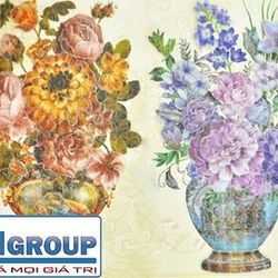 combo 2 tranh dán tường hình hoa 5d cực đẹp mã sp 13090