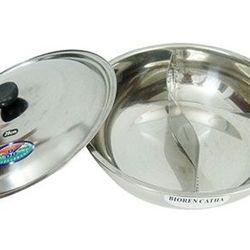 nồi nấu lẩu inox 2 ngăn đa năng tiện lợi ms: 14493