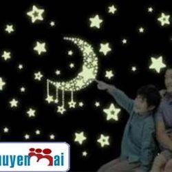 combo 5 gói ngôi sao dạ quang trang trí sáng ms: 9561