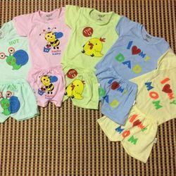 Bộ cotton chữ và thú cho bé từ 0 đến 3 tuổi