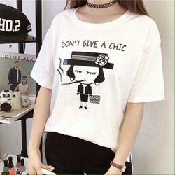 Msat45: áo thun nữ cô gái màu trắng m, l