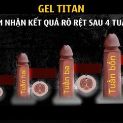 Gel titan tăng kích cỡ dương vật